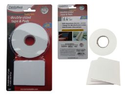 96 Units of Double Sided Tape And Pads - Tape & Tape Dispensers