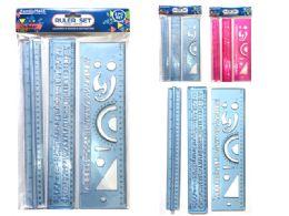 144 Units of 3 Piece Ruler Set - Rulers