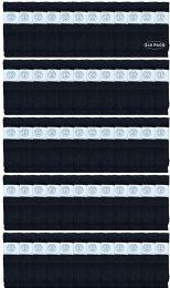 240 Bulk Yacht & Smith King Size Men's 31 Inch Cotton Terry Cushioned Athletic Black Tube SockS- Size 13-16