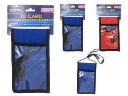 72 Units of Id Pocket With Mesh And Strap - ID Holders