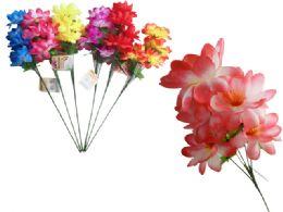 144 Units of 5 Head Flower Bouquet - Artificial Flowers