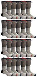 24 Units of Yacht & Smith Womens Cotton Thermal Crew Socks , Warm Winter Boot Socks 9-11 - Womens Thermal Socks