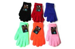 48 Units of Chenille Gloves - Knitted Stretch Gloves