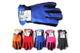 48 Units of Kids Polar Fleece Gloves - Winter Gloves