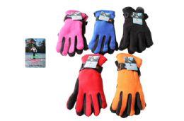 48 Units of Ladies Polar Fleece Gloves - Winter Gloves
