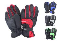 24 Bulk Mens Nylon Ski Gloves