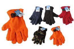 48 Units of Mens Polar Fleece Gloves - Winter Gloves