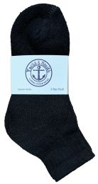 300 Units of Yacht & Smith Cotton Mid Ankle Socks Bundle Set For Men Woman And Children In Solid Black - Sock Care Sets