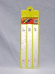 144 Units of Ruler Three Piece Metal Ruler Silver - Rulers