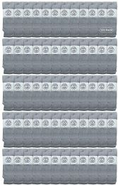 120 Bulk Yacht & Smith Men's Cotton 28 Inch Tube Socks, Referee Style, Size 10-13 Solid Gray