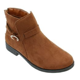 12 Units of Women's Suede Ankle Boots In Brown - Women's Boots