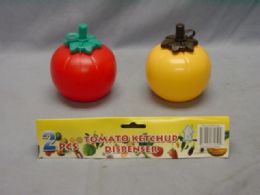 36 Units of 2 Piece Ketchup And Mustard Dispenser - Microwave Items