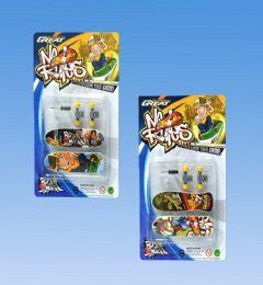 144 Wholesale Mini Skateboard 2pcs In Blister Card