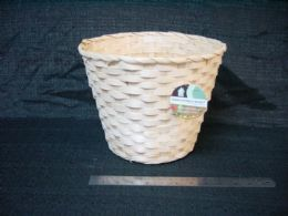 30 Units of Bamboo Multi Use Basket Tall Assorted Colors - Baskets