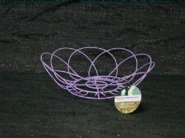 36 Units of Wire Basket Flower Shape Assorted Color - Baskets