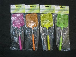 72 Units of Fly Swatter Extendable Assorted Color - Pest Control