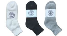 360 Units of Yacht & Smith Women's Cotton Mid Ankle Socks Set Assorted Colors Black, White Gray Size 9-11 - Sock Care Sets