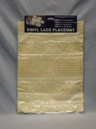 144 Units of Oval Runner Vinyl Lace - Placemats