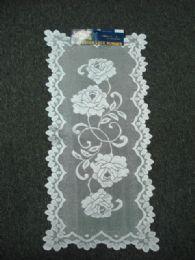 432 Units of White Oblong Lace Table Runner - Table Runner