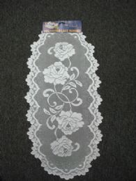 432 Units of White Oval Lace Table Runner - Table Runner