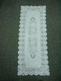 120 Units of Crochet White Lace Table Runner - Table Runner