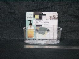 48 Units of Plastic Sink Caddy With Suction - Soap Dishes & Soap Dispensers