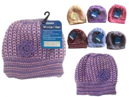 144 Units of Beanie With Flower - Winter Hats