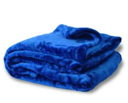 12 Units of Oversized Mink Touch BlanketS- Royal Color - Blankets & Bedding