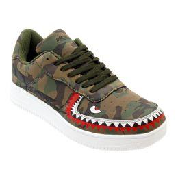 12 of Men's Camo Shark Casual Sneakers