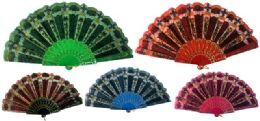 48 Wholesale Hand Fan With Assorted Design