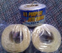 48 Units of 350 Feet All Purpose Jute Twine - Rope and Twine