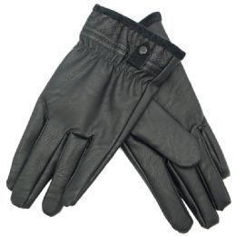 36 Units of Men's Faux Leather Insulated Glove - Leather Gloves