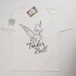 72 Units of Tshirt Hanes Youth 10-12 Tinkerbell - Girls Apparel