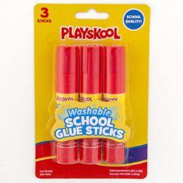 72 Wholesale 3pk Playskool Glue Sticks