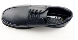 12 Units of Mens Basic Dress Shoes In Black - Men's Footwear