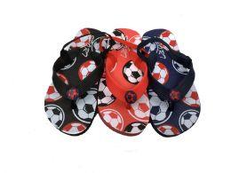 48 Units of Boys Basketball Flip Flops With Back Strap - Boys Flip Flops & Sandals