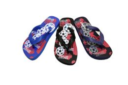 48 Units of Boys Basketball Flip Flops In Multiple Colors - Boys Flip Flops & Sandals