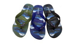 48 Units of Car Print Kids Flip Flops - Boys Flip Flops & Sandals
