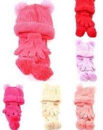 24 Bulk Girls Winter Three Piece Set