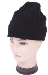 72 Wholesale Unisex Double Sided Knit Beanie Hat