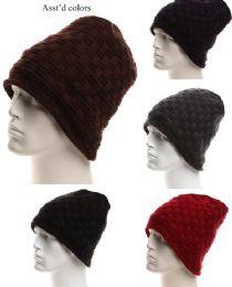 36 Units of Mens Winter Warm Knitting Hats Wool Baggy Slouchy Beanie Hat Skull Cap - Winter Beanie Hats