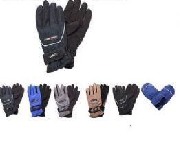 36 Bulk Kids Thermal Lining Gripper Palm Ski Gloves