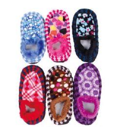 120 Units of Women's Fuzzy Sock Slipper - Womens Slipper Sock