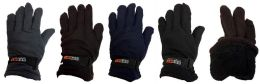 12 of Fleece Solid Color Winter Gloves Assorted Colors