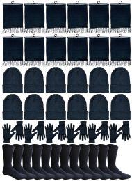 48 Bulk Yacht & Smith 48 Pack Wholesale Bulk Winter Thermal Beanies Skull Caps, Thermal Gloves Unisex