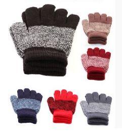 72 Units of Children Stripe Magic Glove - Winter Gloves