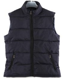 36 Units of Men's Nylon Winter Sleeveless Vest Assorted Colors - Women's Winter Jackets