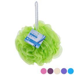 120 Bulk Bath Sponge Ultra Soft Net 6 Assorted Colors In 120pc Pvc Tube Display
