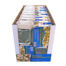 24 Units of 8 Piece Medium Foil Containers - Aluminum Pans