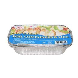 24 Units of 4 Piece Large Foil Containers And Lids - Aluminum Pans